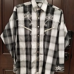 Panhandle Slim Retro Western Wear Shirt Men's sz S